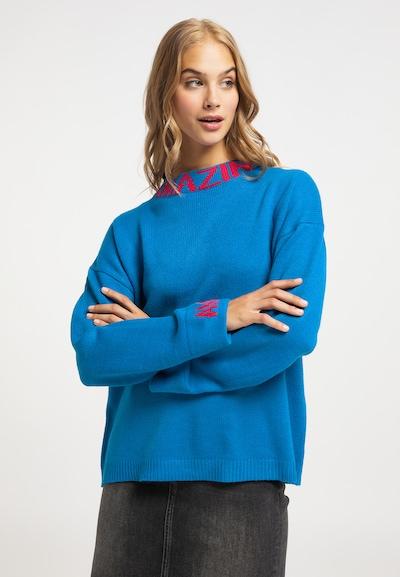 MYMO Pullover in royalblau / neonpink, Modelansicht