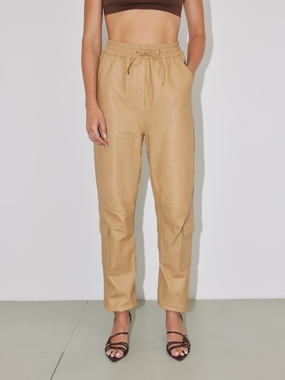 LeGer by Lena Gercke Cargo Pants 'Lorain' in Light brown: Frontal view