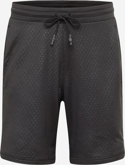 PUMA Sporta bikses, krāsa - pelēks / melns, Preces skats