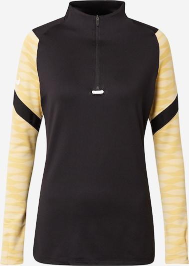 NIKE T-shirt fonctionnel 'Strike' en jaune d'or / jaune clair / noir / blanc, Vue avec produit