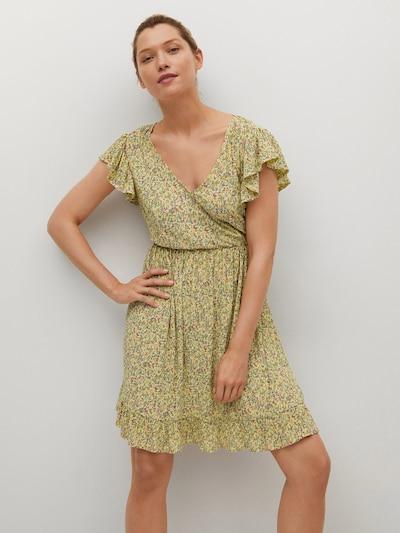 MANGO Kleid 'GRACIOSA' in blau / gelb / grau / rosa, Modelansicht