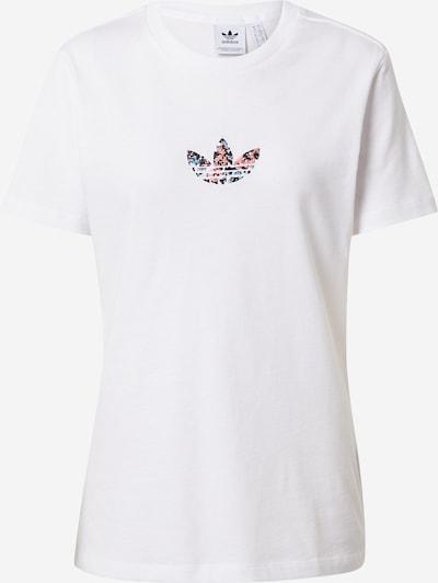 ADIDAS ORIGINALS Shirt in taubenblau / pastellrot / schwarz / weiß, Produktansicht