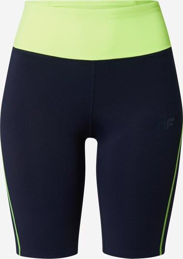 4F Športne hlače | temno modra / svetlo zelena barva, Prikaz izdelka