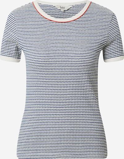 Lee Shirt in dunkelblau / rot / weiß, Produktansicht