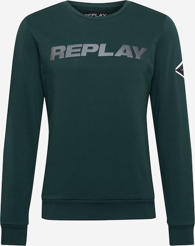 szürke / sötétzöld REPLAY Tréning póló, Termék nézet