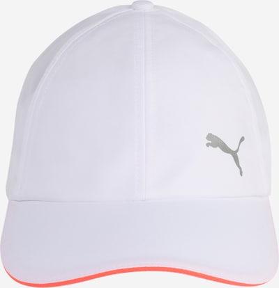 PUMA Casquette de sport en gris clair / orange / blanc, Vue avec produit