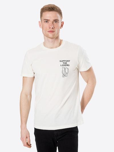 DIESEL Тениска в черно / естествено бяло, Преглед на модела