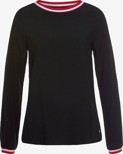 TAMARIS Bluse in rot / schwarz / weiß, Produktansicht