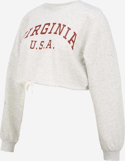 Only Maternity Sweatshirt in hellgrau / dunkelrot, Produktansicht