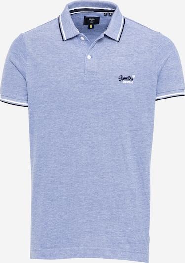 Superdry T-Shirt en bleu marine / bleu clair / blanc: Vue de face