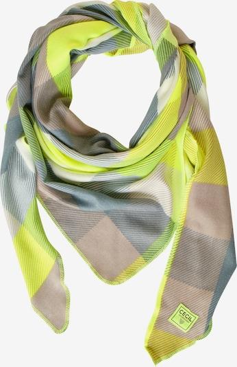 CECIL Schal in gelb / grau / grün, Produktansicht