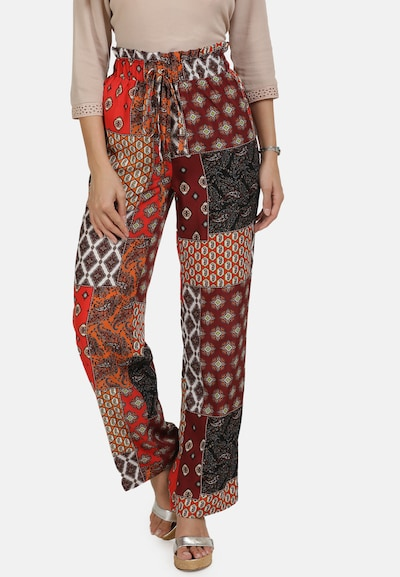usha FESTIVAL Hose in mischfarben / rot, Modelansicht