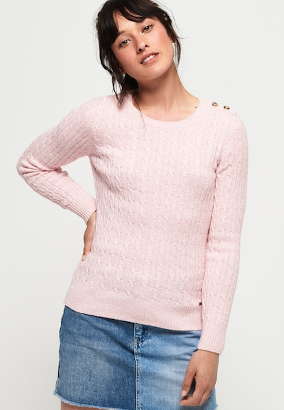 Superdry Pullover 'Croyde' in pinkmeliert, Modelansicht