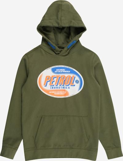 Pullover Petrol Industries di colore blu / cachi / arancione, Visualizzazione prodotti