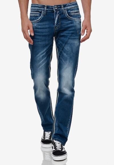 Rusty Neal Jeans-Hose in dunkelblau, Modelansicht