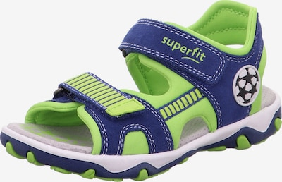 SUPERFIT Sandale  'MIKE' in blau / neongrün, Produktansicht