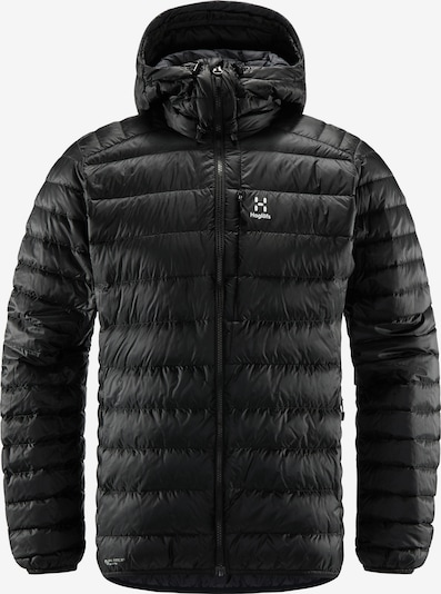 Haglöfs Outdoorjas 'Roc Down' in de kleur Zwart / Wit, Productweergave
