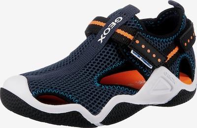 GEOX Sandale 'WADER ' in dunkelblau / orange / schwarz / weiß, Produktansicht