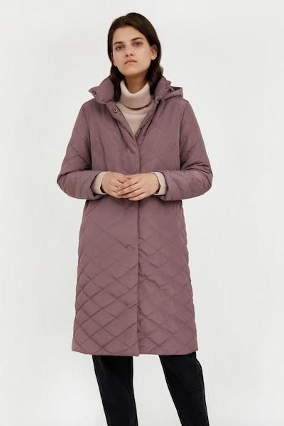 Finn Flare Winter Coat in Grey / Lilac, View model
