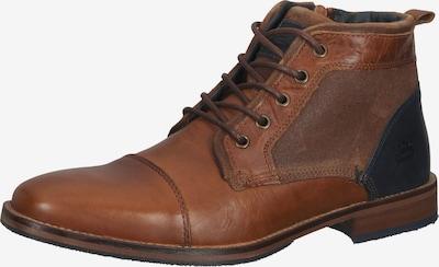 BULLBOXER Обувки с връзки в морскосиньо / коняк, Преглед на продукта