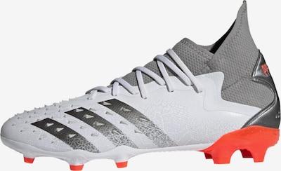 ADIDAS PERFORMANCE Soccer Cleats 'Predator Freak.2 FG' in Grey / Orange red / White, Item view