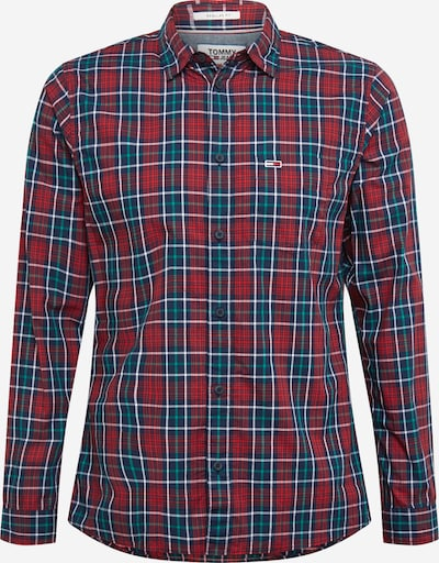 Tommy Jeans Košulja u mornarsko plava / žad / crvena / bijela, Pregled proizvoda