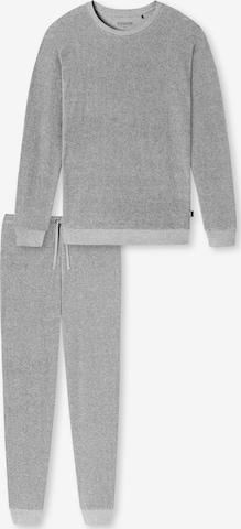SCHIESSER Pikk pidžaama 'Fashion Nightwear', värv hall