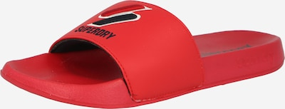 Superdry Claquettes / Tongs en rouge / noir / blanc, Vue avec produit
