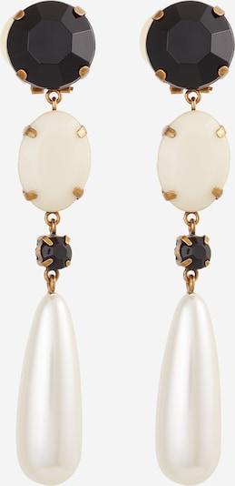 Twinset Ohrringe 'ORECCHINI' in gold / schwarz / weiß / perlweiß, Produktansicht