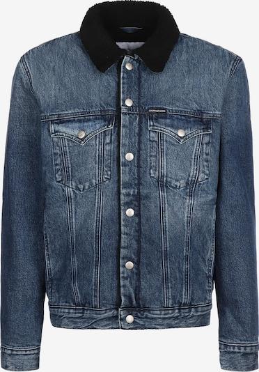 Calvin Klein Jeans Tussenjas ' Foundation Sherpa ' in de kleur Blauw, Productweergave