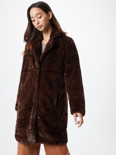 OBJECT Mantel in dunkelbraun, Modelansicht
