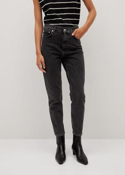 MANGO Jeans in black denim, Modelansicht