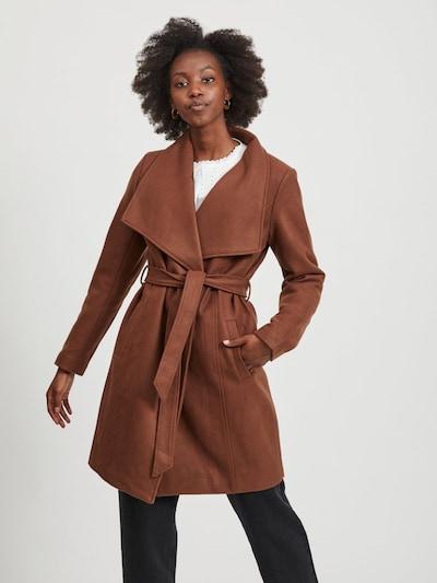 VILA Bindegürtel Mantel in braun, Modelansicht
