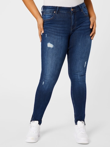 ONLY Carmakoma Jeans in Blauw