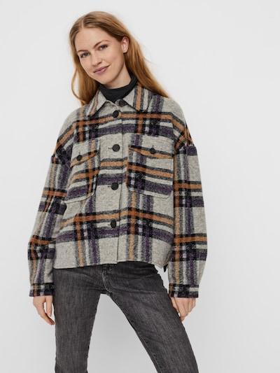 VERO MODA Övergångsjacka 'Chrissie' i grå / lila: Sedd framifrån