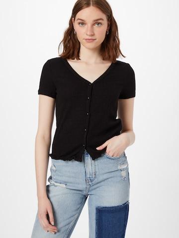 VILA Knit Cardigan 'SIMA' in Black
