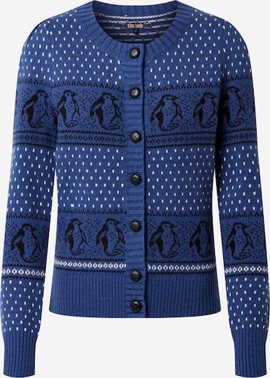 King Louie Strickjacke 'Cardi' in blau / schwarz / weiß, Produktansicht
