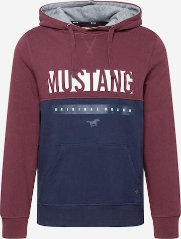 MUSTANG Sweatshirt 'Bennet H Logoprint' i lilla