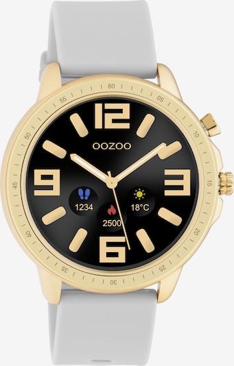 OOZOO Smartwatch in gold / hellgrau / schwarz: Frontalansicht