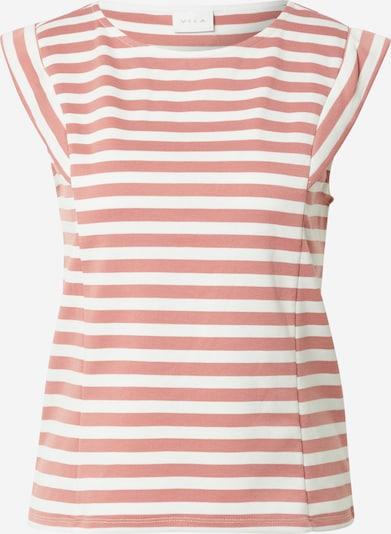 VILA Shirt 'TINNY' in altrosa / weiß: Frontalansicht