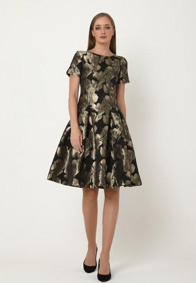 Madam-T Kleid 'Kristi' in gold / schwarz, Modelansicht