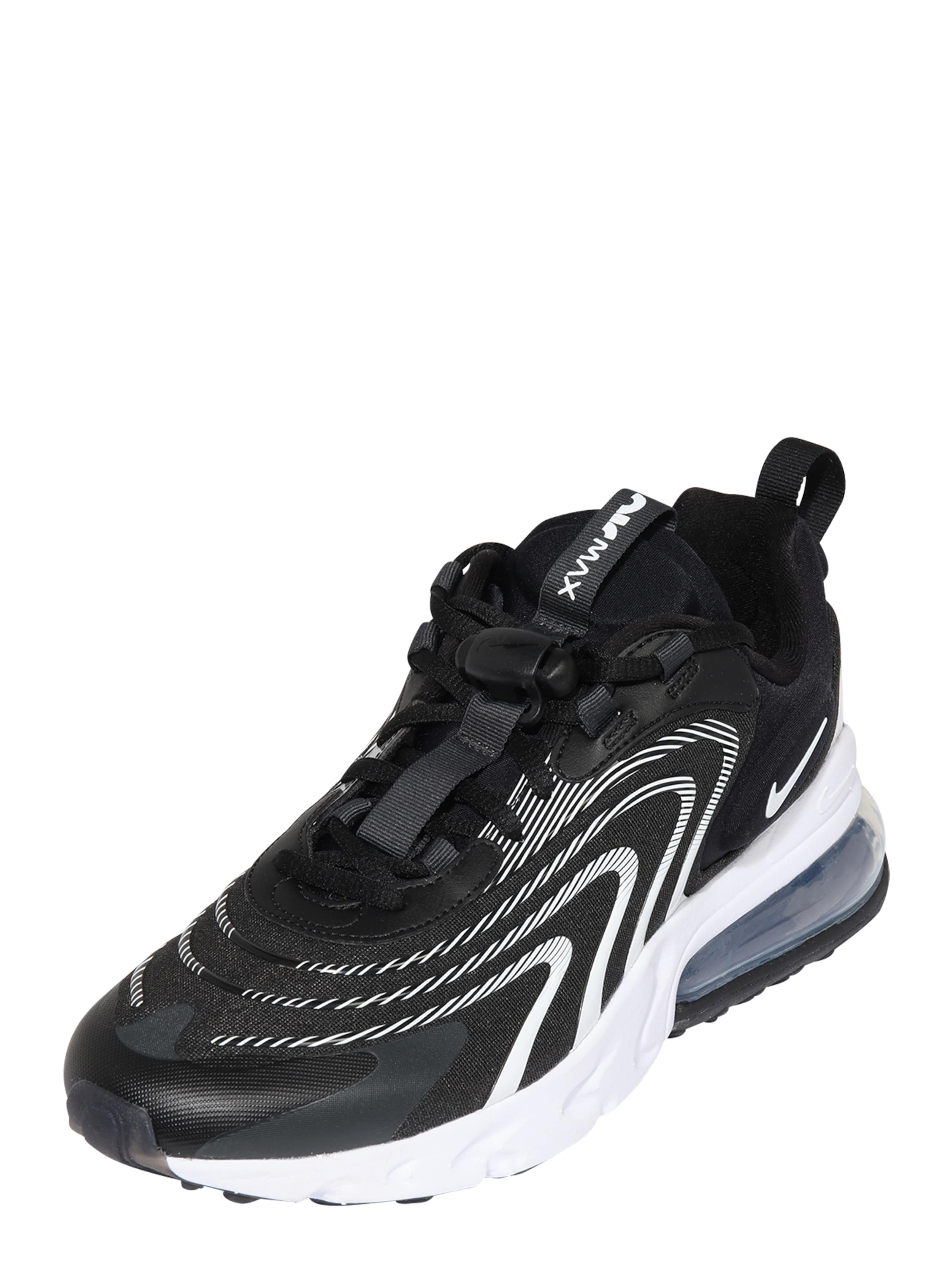 Nike Sportswear Låg sneaker 'Air Max 270 React' i svart / vit