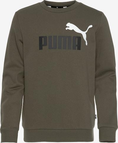 PUMA Sweatshirt in Khaki / Black / White, Item view