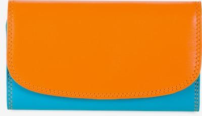 mywalit Schlüsseletui Leder 7 cm in aqua / orange, Produktansicht