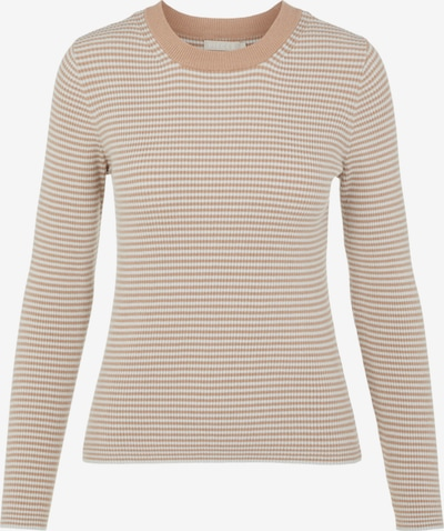 PIECES Sweater 'Penny' in Light brown / White, Item view