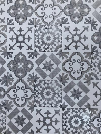 FRIEDOLA Teppich 'Vintage Floor' in grau / weiß, Produktansicht