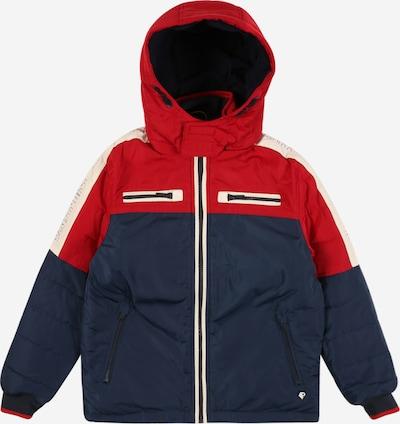 Petrol Industries Winterjas in de kleur Navy / Rood / Wit, Productweergave