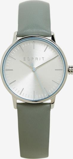 ESPRIT Uhr in oliv / silber / weiß, Produktansicht