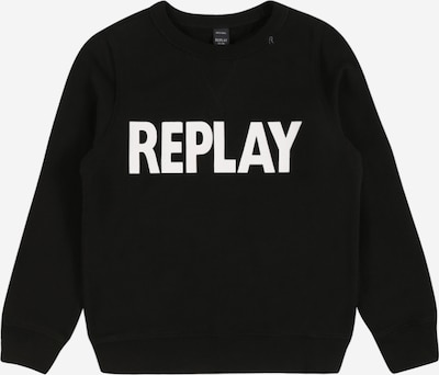 REPLAY Sweatshirt in de kleur Zwart / Wit, Productweergave