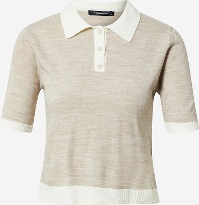Trendyol Jersey en beige / blanco, Vista del producto
